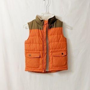 Orange and Brown Fleece Lined Gymboree Boys Vest